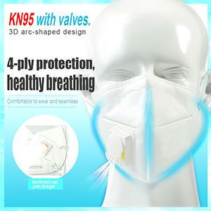 mask kn95 with valve