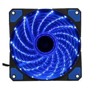 15 Lights LED PC Computer Chassis Fan Case Heatsink Cooler Cooling Fan