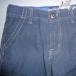 2017 boy yarn-dyed stripe woven cotton cargo shorts casual