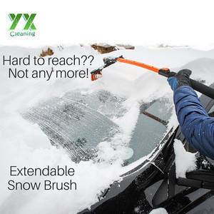 """50"""" Heavy Duty Extendable Snow Brush With Ice Scraper"""