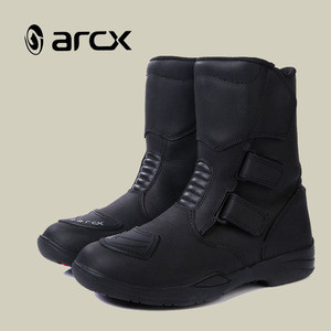 ARCX Genuine Leather Boot Motorcycle Men Adventure Motorcycle Touring Boots Racing Motorbike Shoes
