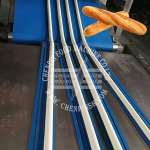 Automatic baguette pizza cutting making machine full production line for french loaf long bread food bakery industries