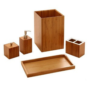 Bamboo bathroom suite