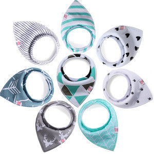 Bset selling Cotton teething drool bib,Reusable Washable Baby Bandana Drool Bibs for Drooling and Teething