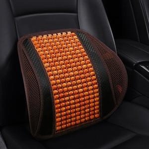 Car seat cushion office summer massage wooden beads lumbar support wholesale