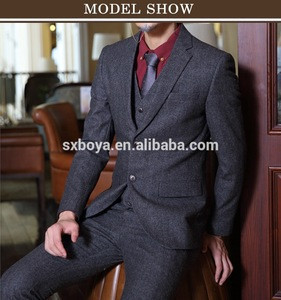 Classical hot sale bespoke tailored made mens business suits made in china