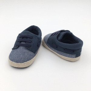 Customized good quality cotton shoelace casual baby shoes for baby boy