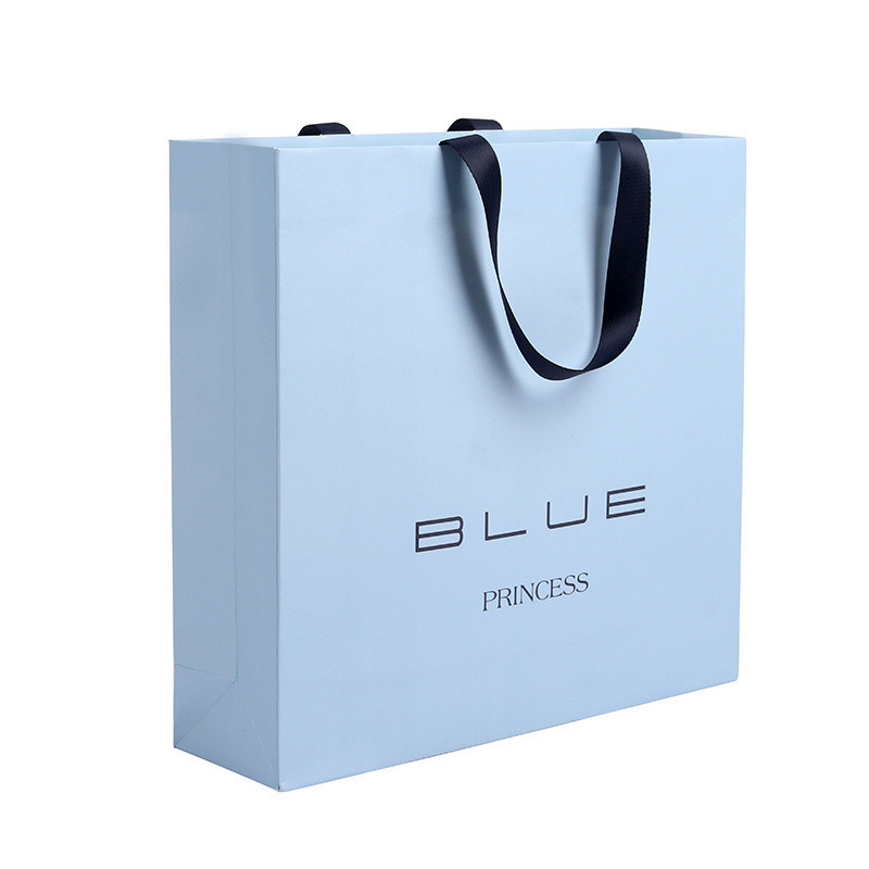 Customized White Paper with Logo Gift Packaging Paper Bags