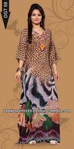 Digital print long kaftan islamic clothing
