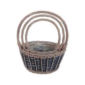 Factory Direct Willow Wicker Basket Gift Basket Flower Basket