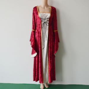 Halloween Velvet Fabric Dark Green Renaissance Costumes Women Medieval Queen Adult Fancy Dress