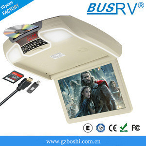 Hot sell 12.1inch flip down car DVD player with HDMI