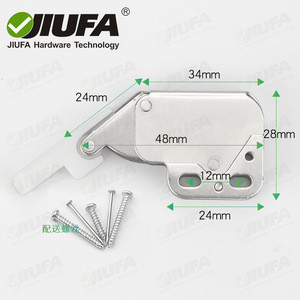 JIUFA Furniture Hardware Mini Latch Automatic Spring Catch Plastic Strike Push To Open For Furniture Cabinet Door
