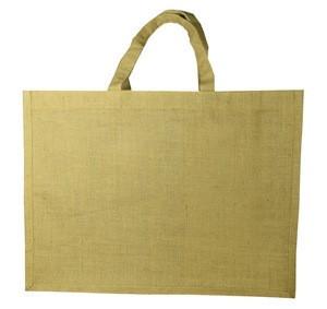 Natural color jute fabric custom heat transfer or silk screen printing tote jute promotional bag