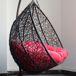 Round Double wicker Hanging Patio Swing Chair For Bedroom
