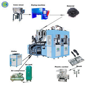 Shoe injection moulding machine production line with auxiliary equipment