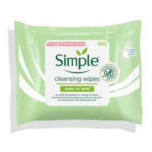 Simple Cleansing Facial Wipes 25 CT