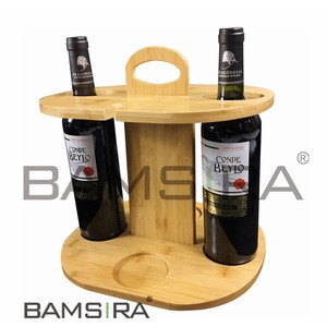 Solid Wooden 2 Cups Wine Glass Holder/Creative Under Cabinet Hanging Goblet Rack Household Wine Racks /BAMSIRA-BSCI