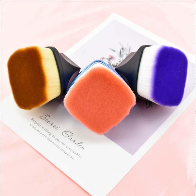 Vegan Hair Colorful Powder Brush for Makeup