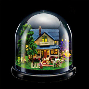 Wholesale/custom creative christmas crystal ball music box