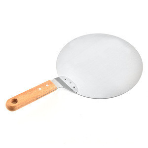 10 Inch Round Stainless Steel Pizza Spatula Metal Pizza Peel Paddle for Homemade Pizza, Bread, Cake, Pie