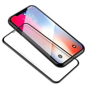 2.5D 9H Anti-explosion silk print film full cover tempered glass screen protector for iphone X/XR/XS/XS Max