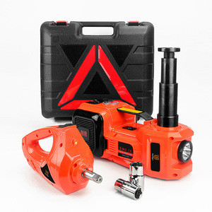 5T Hydraulic Electric Jack With Inflator Impact Wrench for car repair tools