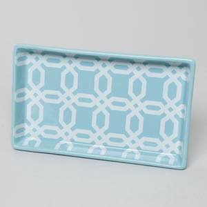 BATHROOM TRAY FRETTE AQUA DOLOMITE WITH DECAL #50145