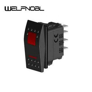 Best Price Dptt On-On-On 8P  2 Lamp Rocker Switch For Truck