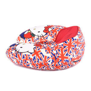 Best Selling Printed Soft Plush Micro Bead Pillow Neck Rest Airplane Travel Neck Pillow With Polystyrene Beads