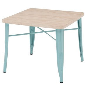 BOHAO Metal Kids Table With Wood Table Top For Study Drawing in Living Room