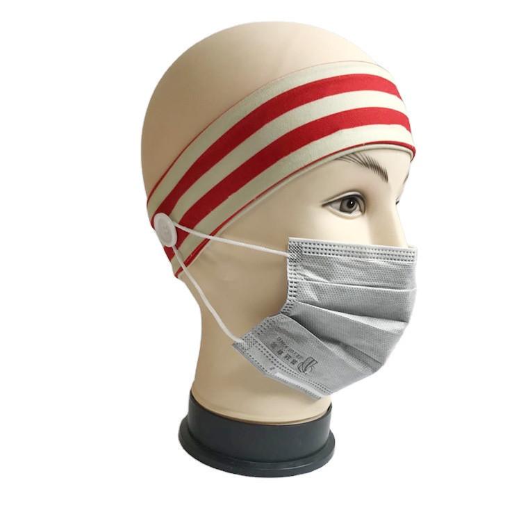 Button Headband Medical Facemask Holder for Nurses Doctors Wearing Mask