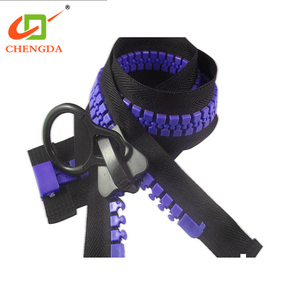 CHENGDA March Expo Auto Lock Close End Tents 30# Oversize Big Giant Teeth Tape Zip Zipper