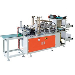 China Wenzhou Automatic Double Lines Food Grade PE Disposable Gloves Food Preparation Poly Gloves Making Machine