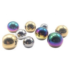 Custom steel balls colored Plated Threaded Carbon Steel Ball Color Steel Ball Coated Solid Metal Balls Plated Bearing Ball 15mm