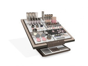 Customized Fashion Two Tires Acrylic Metal Display Rack Organizer For Cosmetic Makeup Product Wholesale