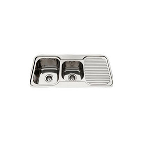 Factory 304 Wash Basin tow bowls Sinks Stainless Steel Kitchen Sink
