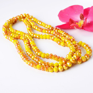 Fashionable Wholesale Yiwu Glass Garment Beads Bulk Blue Faceted Crystal Beads for Bracelets ,Necklaces ,Rosary Beads