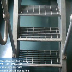 Galvanized bar grating stair tread, galvanized steel grating stair tread