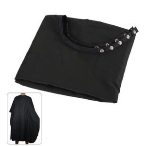 Hair Cutting Cape Salon Barbershop Adult Household Black Cape with Button