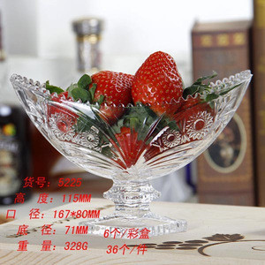 High quality salad glass bowl , candy bowl , vegetable glass bowl