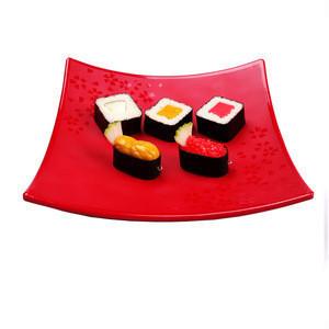 High Quality Square Melamine Sushi Plate