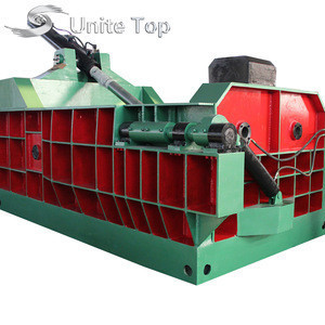 Hydraulic scrap metal baler with CE