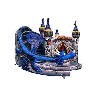 Inflatable dragon bouncer bomgo slide for kids