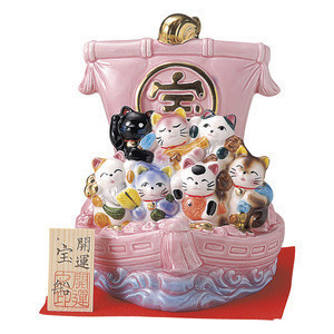 Japan popular charmingly naive fortune lucky cat maneki neko for gifts and souvenirs