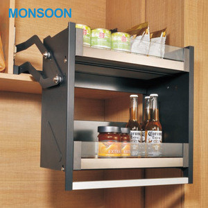 Kitchen Cabinet Upright Lift Fitting Door Support Pull Down Elevator Basket