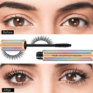 Low MOQ 4D Makeup rainbow Mascara Private label Mascara customized logo