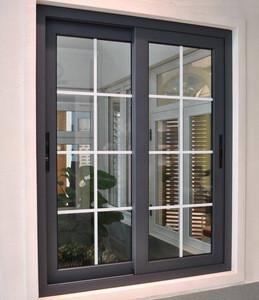 Modern design highly durable tough glass aluminum sliding windows