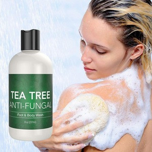 Natural Daily Detox Antifungal Tea Tree Oil Body Wash Shower Gel With Essential Oils