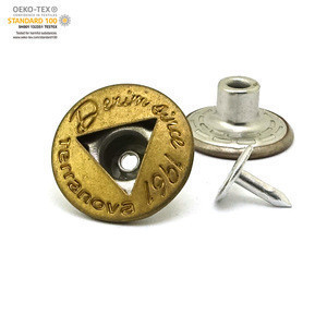 OEKO-TEX China fancy alloy metal pearl jean button